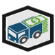 Money Truck Transportation Currency Logo - GraphicRiver Item for Sale
