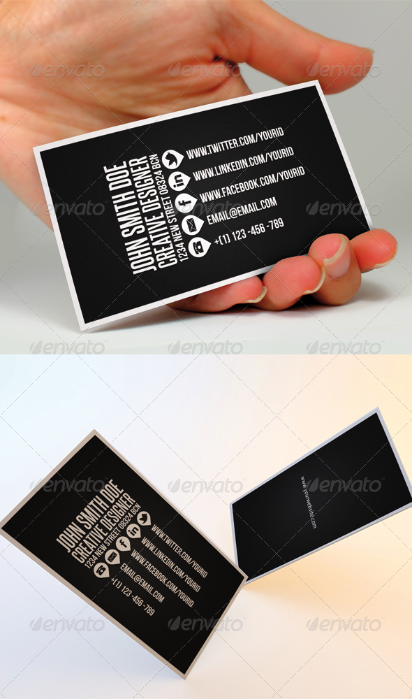 Graphic River Clean Business Card II Print Templates -  Business Cards  Creative 752295