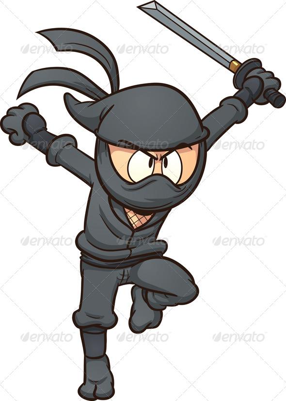 cartoon ninja clip art - photo #13