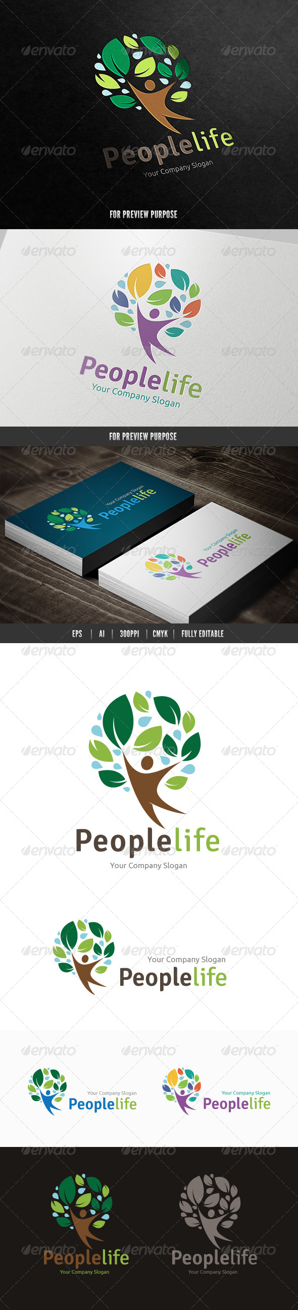 People Life - Nature Logo Templates