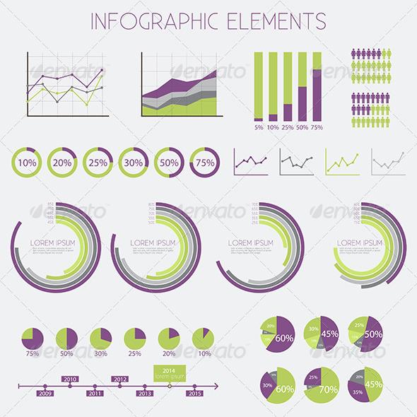 Infographics Design Elements - Vector Set  - Infographics