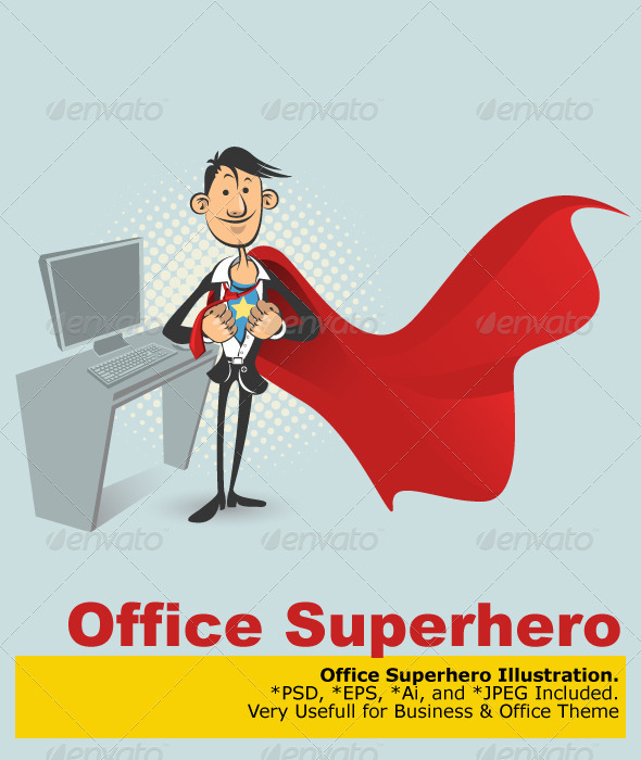 Graphic River Office Superhero Vectors -  Characters 752421