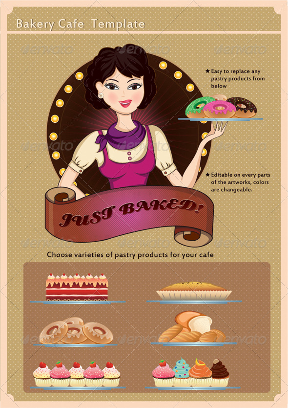 Graphic River Bakery Cafe Template Vectors - 519840