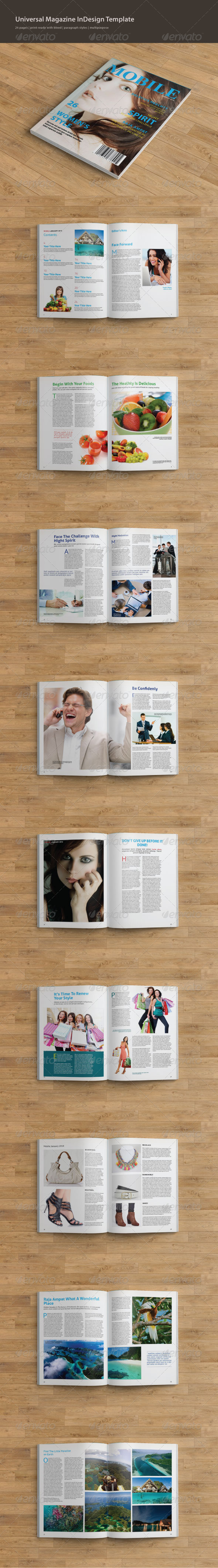 GraphicRiver Universal Magazine InDesign Template 7181237