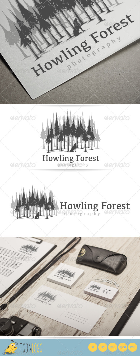 GraphicRiver Howling Forest Logo 7181516