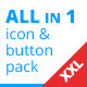 XXL Button Set + Social Media Pack - GraphicRiver Item for Sale