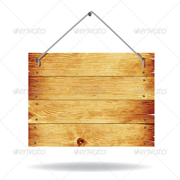 GraphicRiver Wooden Sign 7182980
