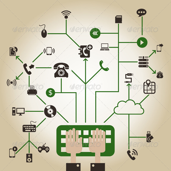 GraphicRiver Electronics a Network 7185428