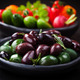 Variation of olives with raw snack vegetable - PhotoDune Item for Sale