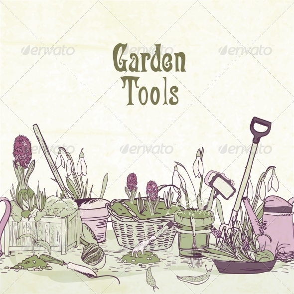 GraphicRiver Gardening Tools 7187875