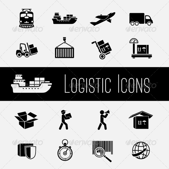 GraphicRiver Supply Chain Icons Set 7187883