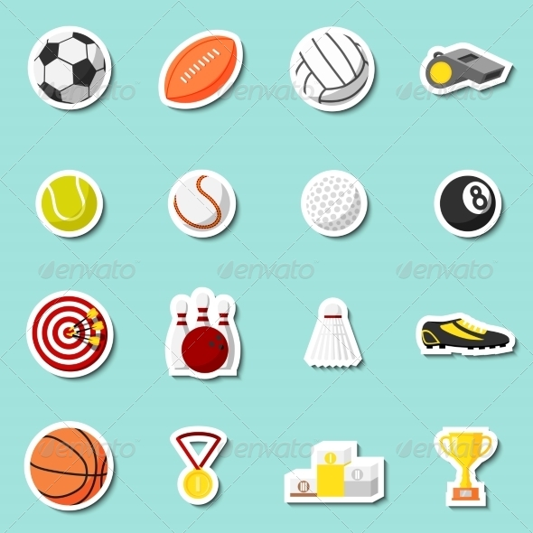 GraphicRiver Sports Stickers Set 7187917