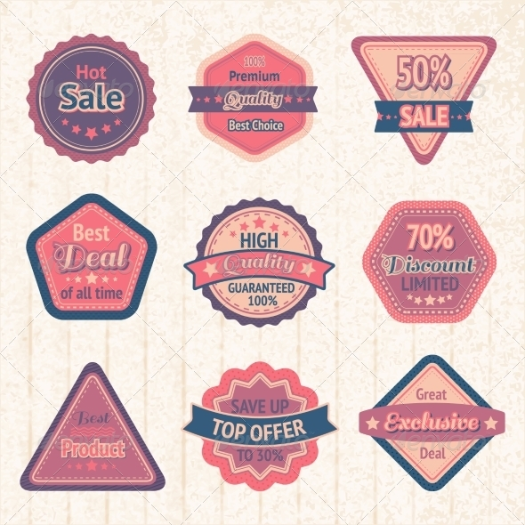 GraphicRiver Labels and Badges 7187961