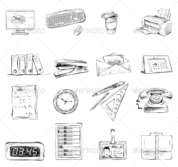 GraphicRiver Stationary Icons 7188221