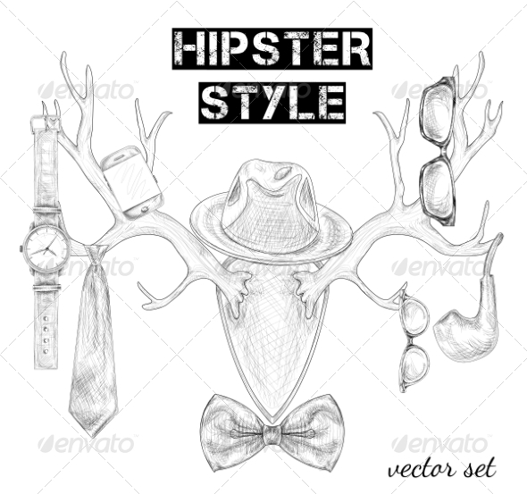 GraphicRiver Hipster Accessories 7188227