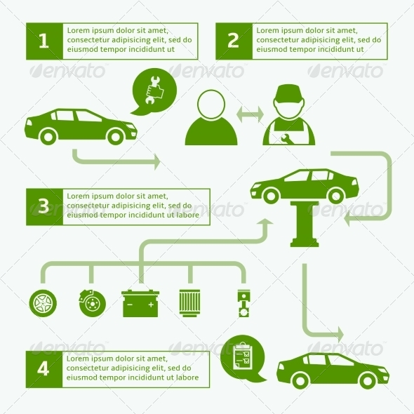GraphicRiver Car Service Infographic 7188240