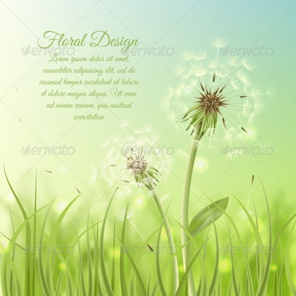 GraphicRiver Dandelion Background 7188246