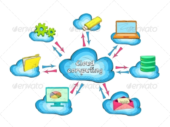 GraphicRiver Cloud Network 7188254