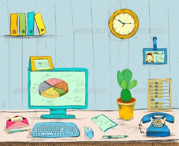 GraphicRiver Workplace 7188264