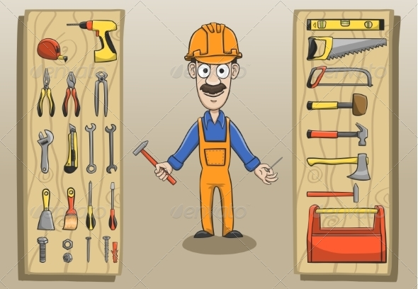 GraphicRiver Construction Worker 7188282