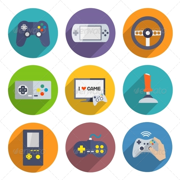 GraphicRiver Video Games Controller Icons Set 7188455