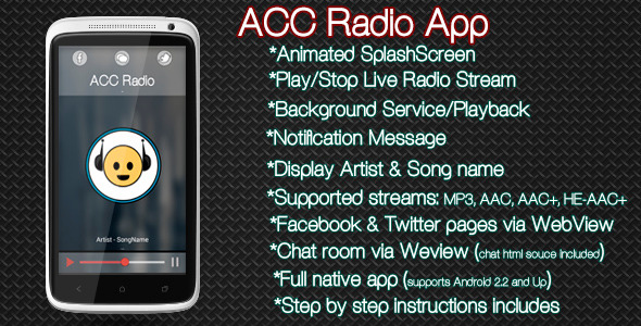 CodeCanyon AAC Radio App Android 7188514