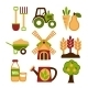 Farming Harvesting and Agriculture Icons Set - GraphicRiver Item for Sale