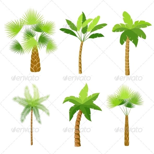 GraphicRiver Palm Trees Set 7188866