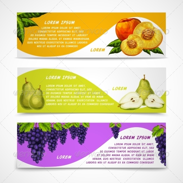 GraphicRiver Fruit Banners 7189586