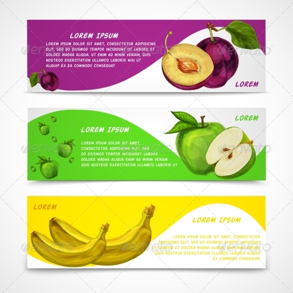 GraphicRiver Fruit Banners 7189655