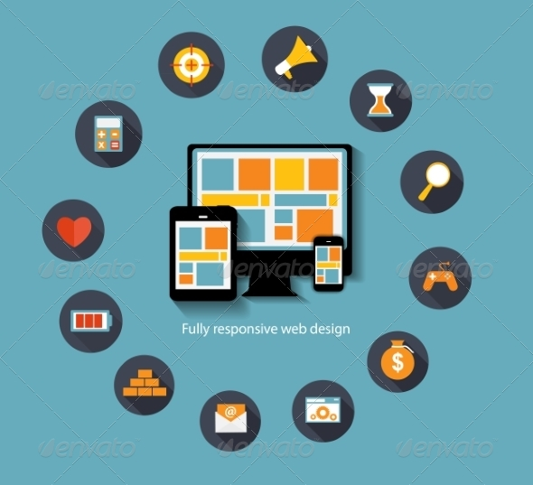 GraphicRiver Modern Flat Icon Set for Web 7189684