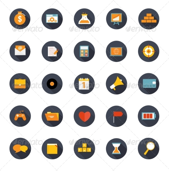 GraphicRiver Set of Flat Icons Vector Illustration 7189692