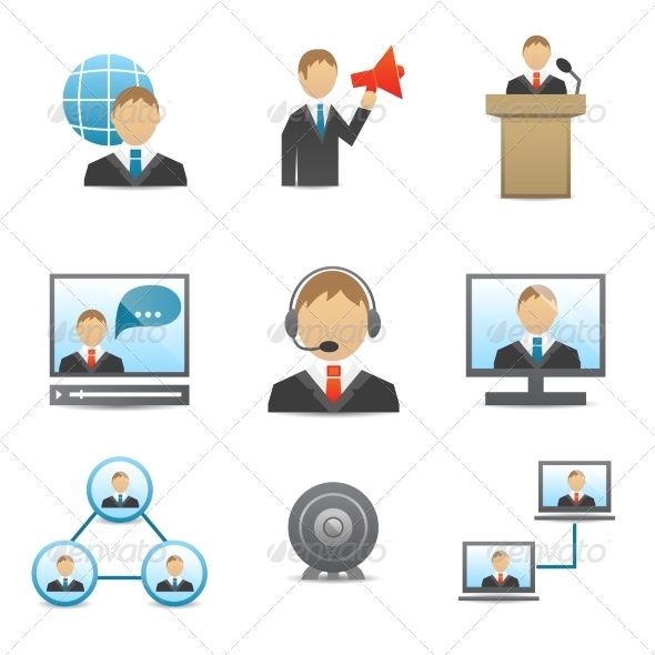 GraphicRiver Business People Icons Set 7189694