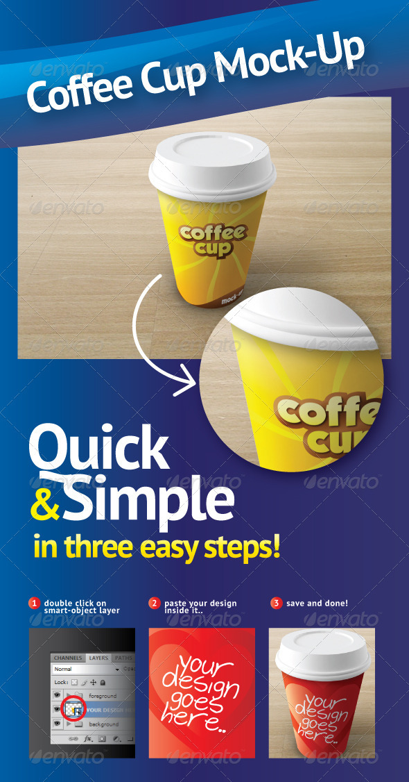 GraphicRiver Coffee Cup Mock-Up 753932