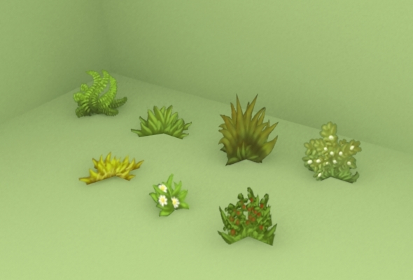 3DOcean Grass pack low poly 7193741
