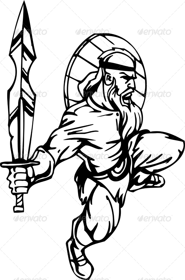 GraphicRiver Nordic Viking Vector Illustration Vinyl-Ready 7193911