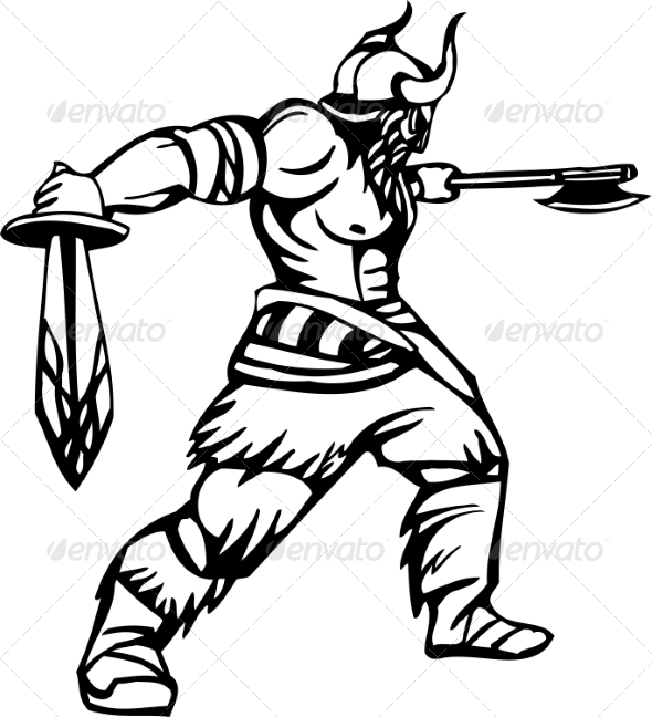 GraphicRiver Nordic Viking Vector Illustration Vinyl-Ready 7193933