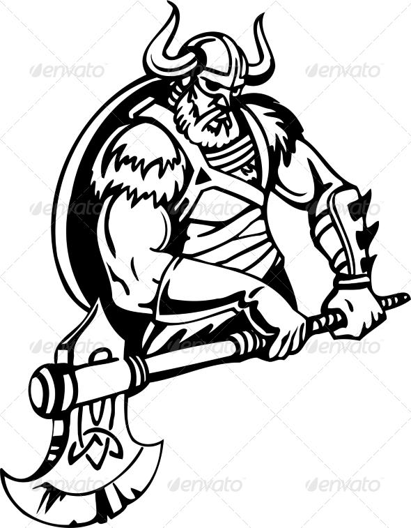 GraphicRiver Nordic Viking Vector Illustration Vinyl-Ready 7193934