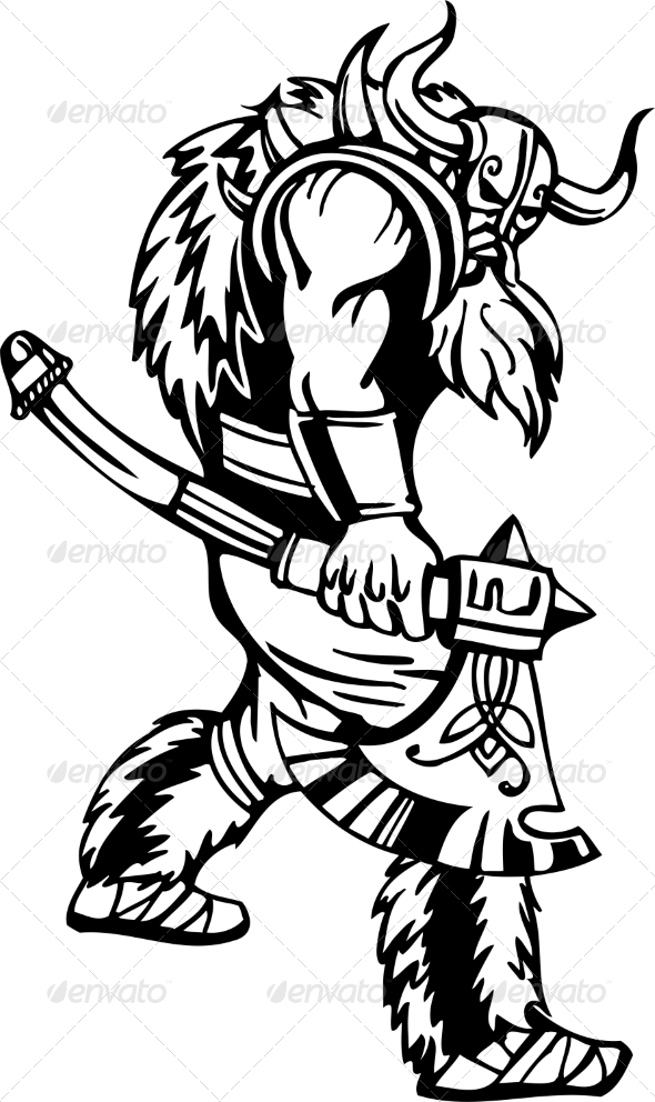 GraphicRiver Nordic Viking Vector Illustration Vinyl-Ready 7194006