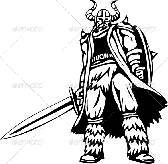 GraphicRiver Nordic Viking Vector Illustration Vinyl-Ready 7194139