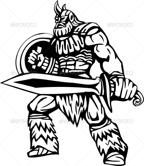 GraphicRiver Nordic Viking Vector Illustration Vinyl-Ready 7194159