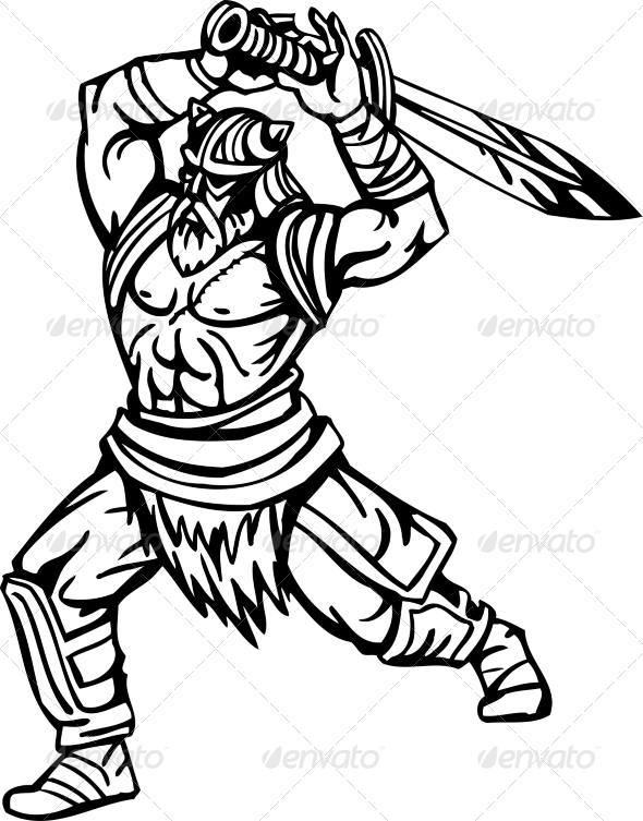 GraphicRiver Nordic Viking Vector Illustration Vinyl-Ready 7194165