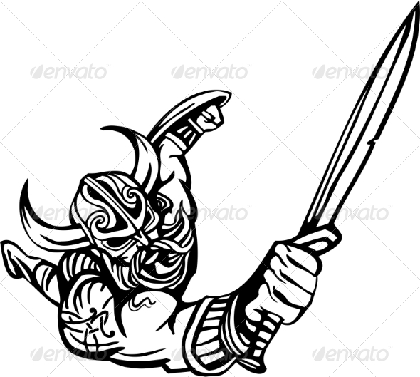 GraphicRiver Nordic Viking Vector Illustration Vinyl-Ready 7194166