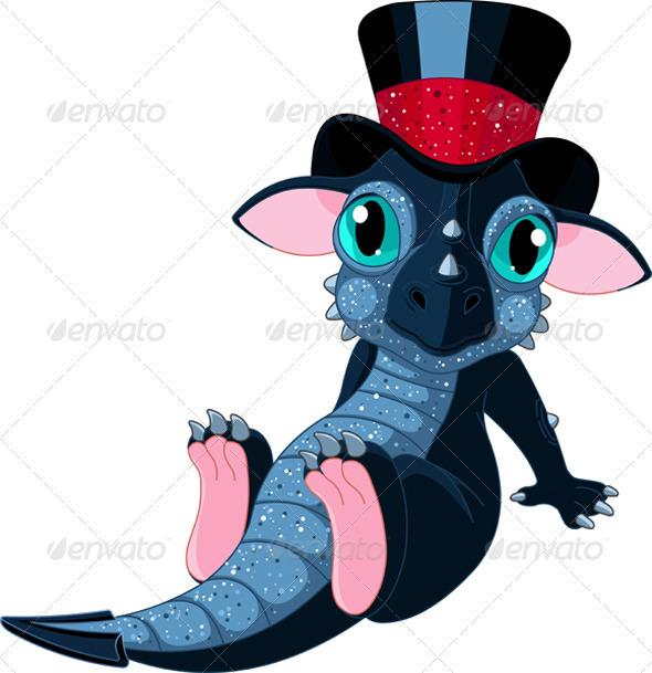 Graphic River New 2012 year cartoon dragon Vectors -  Conceptual  Seasons/Holidays  New Year 752229