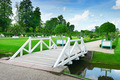 wooden bridge in a beautiful park - PhotoDune Item for Sale