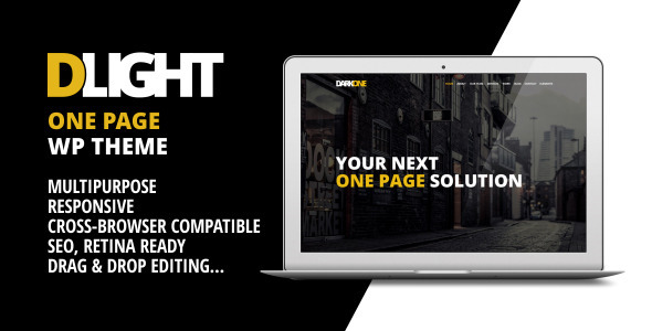 ThemeForest D-Light One Page Wordpress Creative Template 7195893