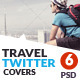 Travel Twitter Covers - GraphicRiver Item for Sale