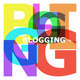 Blogging - abstract color letters - PhotoDune Item for Sale