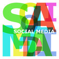 Social media - abstract color letters - PhotoDune Item for Sale