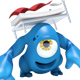 Blue Monster Mascot Under the Bed - GraphicRiver Item for Sale